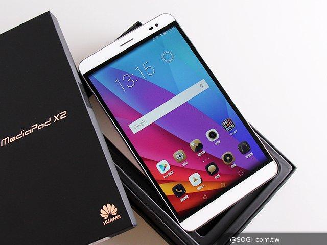 開箱]7吋雙卡4G通話平板華為MediaPad X2- SOGI手機王