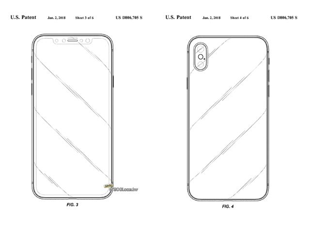蘋果取得iPhone X設計專利 並非針對「瀏海」造型