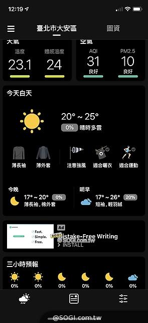 目前天氣資訊