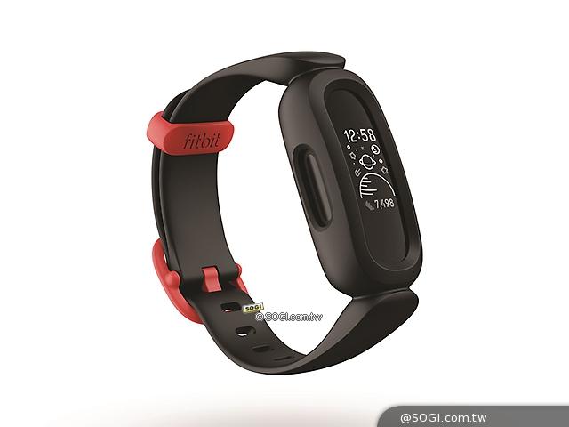 黑色錶帶配運動紅錶扣