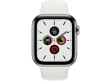 Apple Watch Series 5 Sport Stainless Steel GPS + LTE 44mm