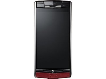 Vertu Signature Touch 酒紅色小牛皮